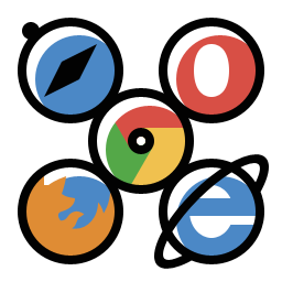 Image icon of the 5 major web browsers